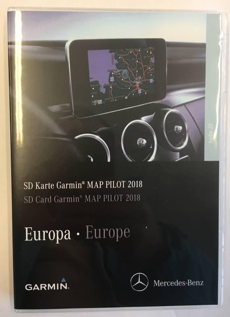 kaartupdate 2018 map pilot mercedes c e glc v x. Black Bedroom Furniture Sets. Home Design Ideas
