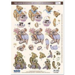 3D doordrukvel Teddyberen