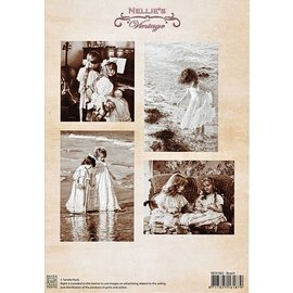 """A4 knipvel Nellie's Vintage NEVI-002 """"beach"""""""