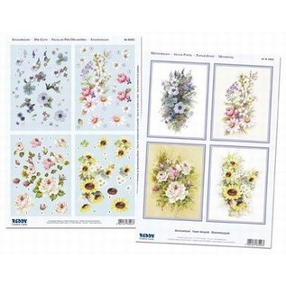 Bloemenkaarten: DIN lang