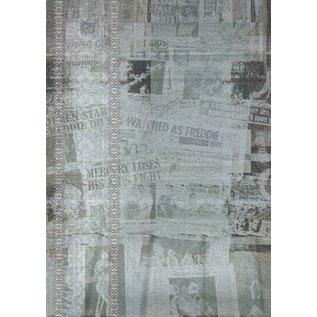 Designkarton oude krant met figuur
