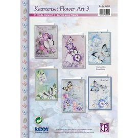 Kaartenset Flower Art 3