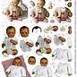 Knipvel A4 Antieke celluloid baby