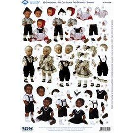 Knipvel A4 Houten Dolls, ca 1920