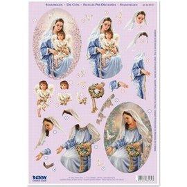 Maris met engel en vredesduif