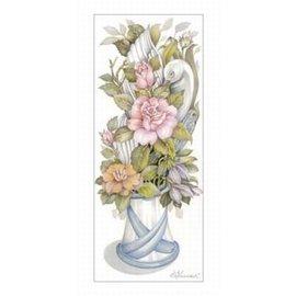 Creatief Art Pakket 6 x SWR8-0001 rozen in witte vaas
