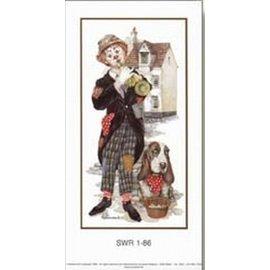 Creatief Art Pakket 6st SWR1-86 clown met hond