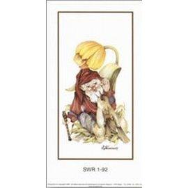 Creatief Art Pakket 6st SWR1-92  Kabouter met vogel