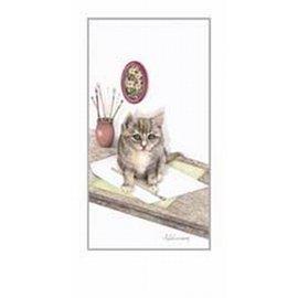Creatief Art Pakket 6st SWR1-96  Katje op tafel