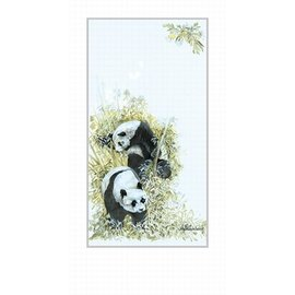 Creatief Art Pakket 6x  SWR1-164 vogel op tak met bloemen