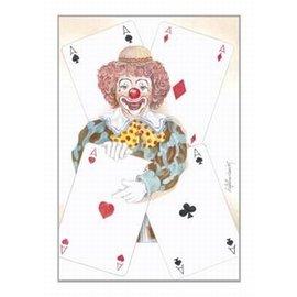 Creatief Art Pakket 6x SWR2-5029  clown mezt kaarten