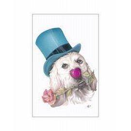 Creatief Art Pakket 6x SWR3-0155 Hond met roos