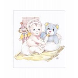 Creatief Art Pakket 6x SWR6-0006 baby met beer