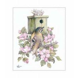 Creatief Art Pakket 6x SWR6-0034 vogel voor vogelnestje