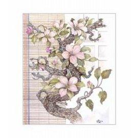 Creatief Art Pakket 6x SWR6-0039 tak met bloemen