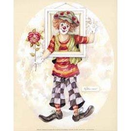 Creatief Art Pakket 6x SWR9-06 clown met kader ovaal