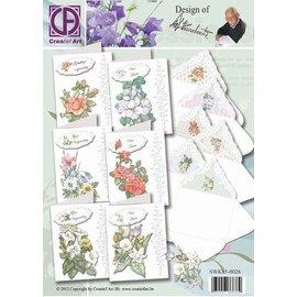 Creatief Art Pakket Staf Wesenbeek bloemen met enveloppen