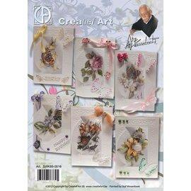 Creatief Art Pakket voorjaarskaarten bloemen en vlinders