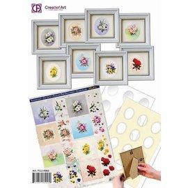 Creatief Art Set minilijstjes wit met doordrukvel