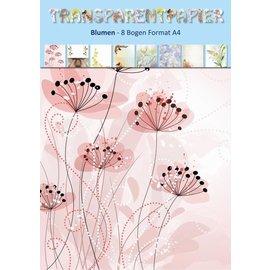 Reddy cards Transparant papier bloemen