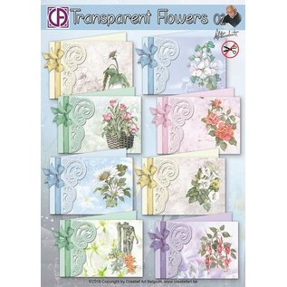 Creatief Art Transparent Flowers 02