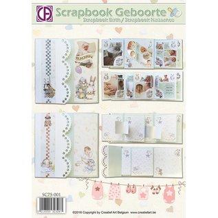 Creatief Art Scrapbook Geboorte