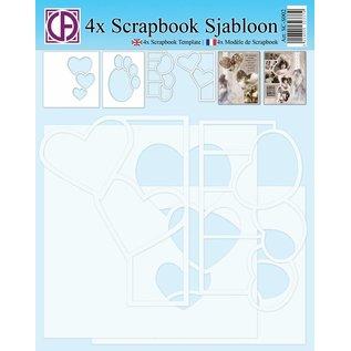 Creatief Art 4x Scrapbook Sjabloon