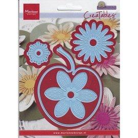 Marianne Design Appel met bloemen