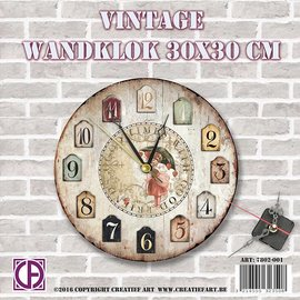 Creatief Art Vintage-Wanduhr 01