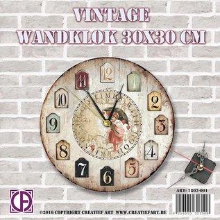 Creatief Art Horloge murale Vintage 01