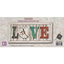 Creatief Art Horloge murale Amour vintage