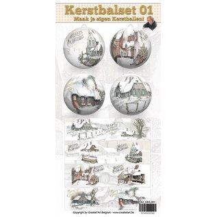 Creatief Art Kerstbalset 01