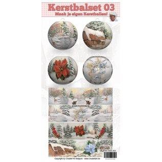 Creatief Art Kerstbalset 03