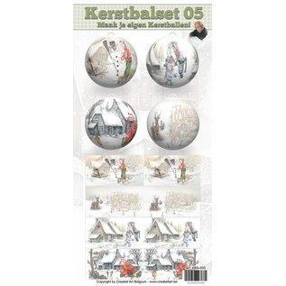 Creatief Art Kerstbalset 05