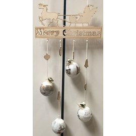 Creatief Art Ornament Merry Christmas Hout