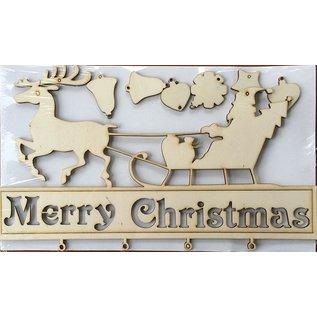 Creatief Art Joyeux ornement de Noël en bois
