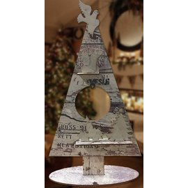 Creatief Art Arbre de Noël ornement en bois 02
