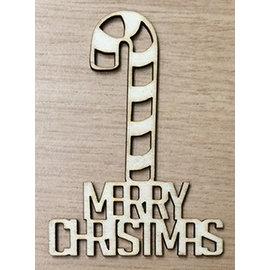 Creatief Art Merry Christmas met Kerststok