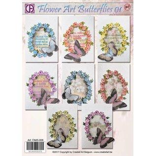 Creatief Art Flower Art Butterflies 01
