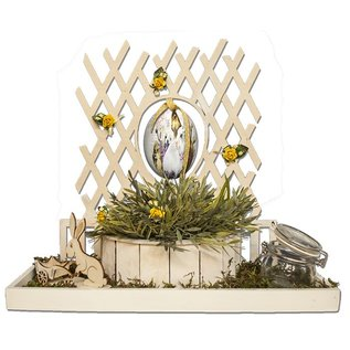 Creatief Art plaque de Pâques avec le lapin et oeufs de Pâques