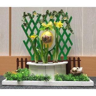 Creatief Art Ostern Platte mit Kaninchen und Osterei