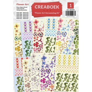 Creatief Art Crea livre - Flower Art Verzamelmap 01