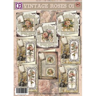 Creatief Art Vintage Roses 01
