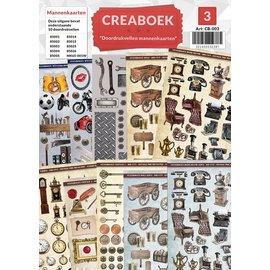 Creatief Art Crea livre 03 - par les hommes imprimées cartes feuilles