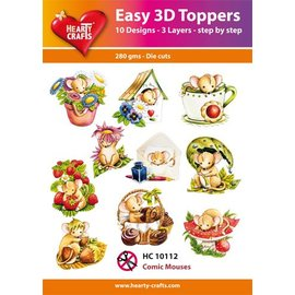 Hearty Crafts 3D-topper Comic Mouses