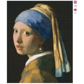 Pixel Hobby Meisje met de parel - 9 platen