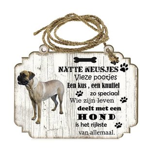 Hondenbordje: Bullmastiff