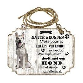 Hondenbordje:    Sibersche Husky