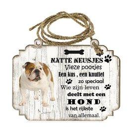 Hondenbordje: Engelse Buldog
