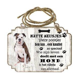 Hondenbordje: Amerikaanse Buldog